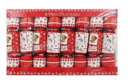 8 Mini Reindeer Christmas Crackers £1 Delivered @ The Works