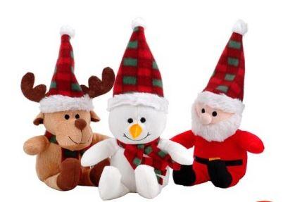 Santa Reindeer & Snowman Soft Toys £1 @ Poundland