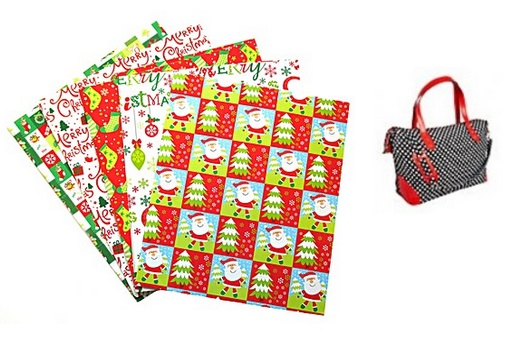 Polka Print Weekend Bag & 10 Sheets Wrapping Paper For £2.00 Delivered @ The Brilliant Gift Shop