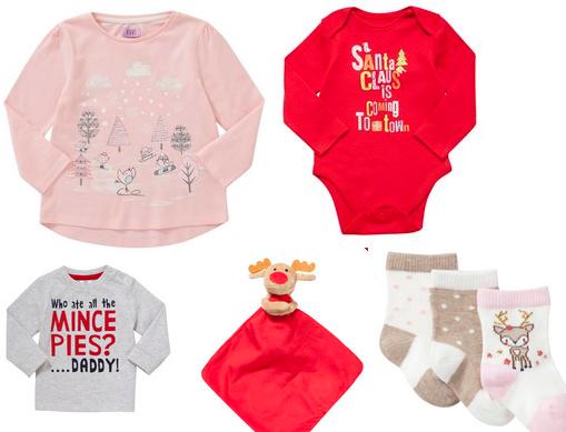 Baby's Christmas Wardrobe From £1 @ Tesco F&F