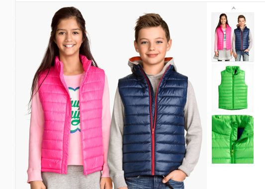 Kids Padded Body Warmers From £2.99& Free Delivery on £6 Spend @ H&M