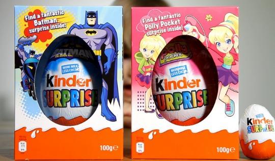 HEADS UP! Batman And Polly Pocket Kinder Surprise Easter Eggs £5 @ Tesco