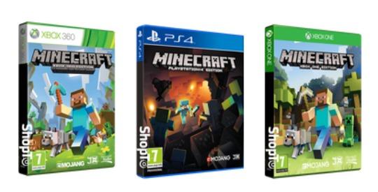 Minecraft: PS4 / XBox 360 £8.86, XBox One £9.85 @ ShopTo