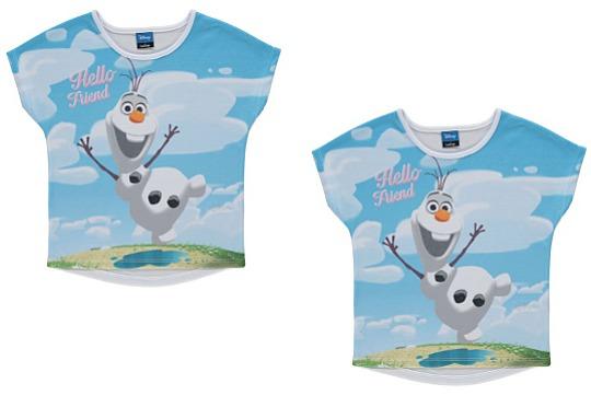 Disney Frozen Olaf T-Shirt £3 Delivered @ Asda George