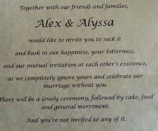 Bride Un-Invites Parents To Her Wedding