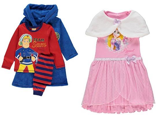 Children's Nightwear Reductions @ Asda George