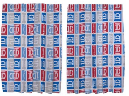 """One Direction Curtains 54""""/72"""" Drop £3/£5 @ Tesco Direct"""