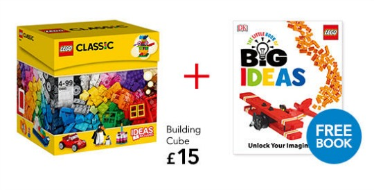 Buy The Lego Classic Building Cube and Get a FREE Lego Book: £15 @ Asda George