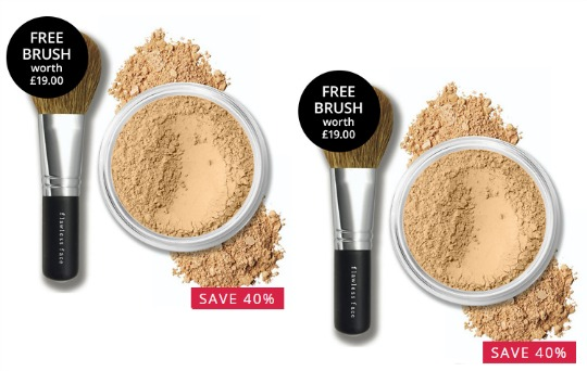 bareMinerals SPF15 Original Foundation 8g With FREE Flawless Application Face Brush £15.66 Delivered @ Feel Unique