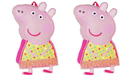 Peppa Pig Shaped Backpack: was £8.99 now £4.49 @ Argos