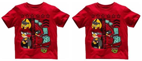 Angry Birds T-Shirt: Half Price, now £2.49 @ Argos