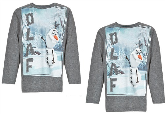 Disney Frozen Olaf T-Shirt £1.99 @ Marks And Spencer