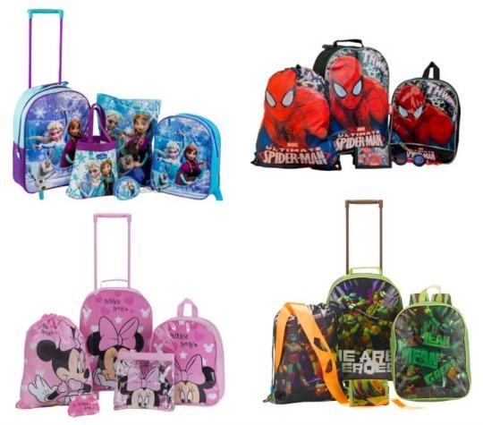 Frozen / Minnie / Spiderman / TMNT 5 Piece Kids Luggage Sets: now £16.66 @ Argos