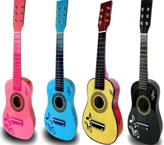 Children's Wooden Acoustic Guitar £9.99 Delivered @ eBay