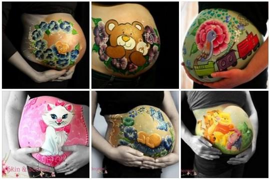 Anatomical Baby Bump Art