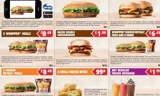 Printable Burger King Vouchers