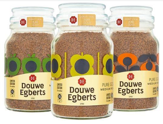 Limited Edition Orla Kiely Douwe Egberts Coffee Jars