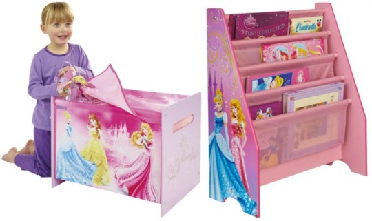 Disney Princess Toy Box or Sling Bookcase: was £29, now £20 @ Tesco Direct
