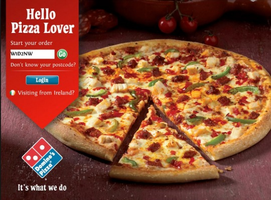 £10 Cashback When You Spend £10+ On Dominos @ Quidco