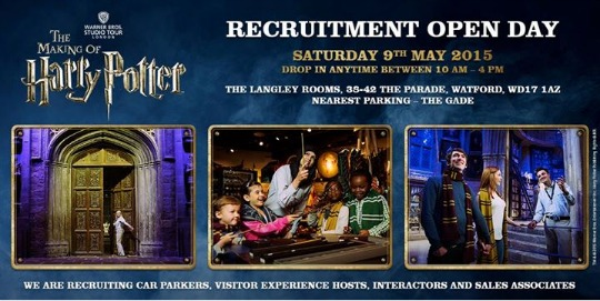 Who Wants To Work At 'The Making Of Harry Potter'?