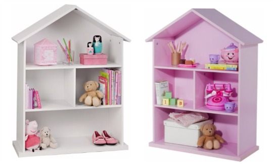 Dolls House Bookcase (White or Pink) was £39.99, now £24.99 @ Argos