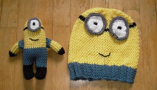 FREE Minions Hat & Toy Knitting Patterns @ Ravelry