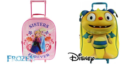 Kids 3D Trolley Bags: Frozen £7.99, Henry Huggemonster £5.99 @ Home Bargains