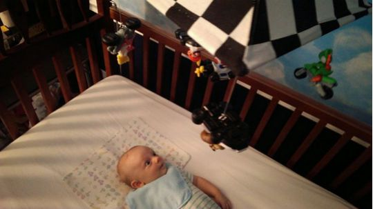 Dad Makes A Mario Kart 8 Baby Nursery