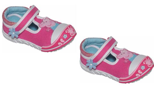 Peppa Pig Girls' Pink Toddle Canvas Trainers £3.49 @ Argos