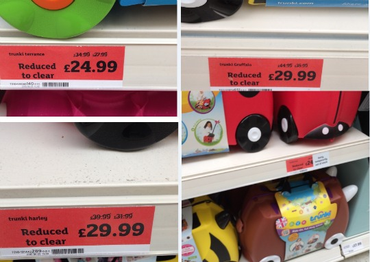 BIG Price Cuts on Trunki Ride On Suitcases IN STORE @ Sainsbury's