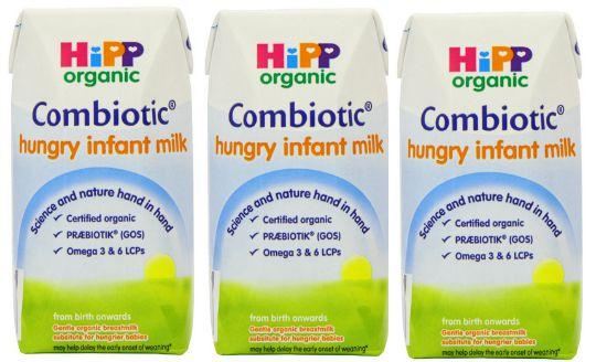 HiPP Organic 2 Hungry Infant Milk 12 x 200 ml Cartons £3 @ Amazon