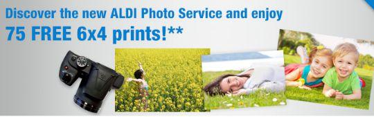 75 FREE 6x4 Photo Prints For New Customers @ Aldi Photo