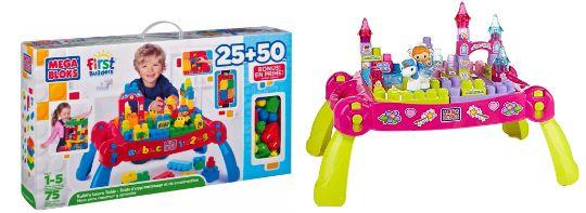 Half Price Mega Bloks First Builders Build 'n' Learn Table & Lil' Princess Fairytale Table Now £19.99 Each @ Argos