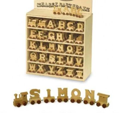 Personalised Wooden Name Train Letters 99p Each From eBay Seller onlineaces2011