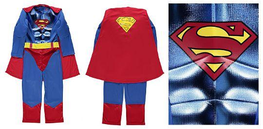 Superman Kids Fancy Dress Outfit £6 @ Asda George