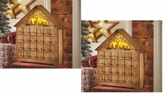 Wooden Light Up Advent Calendar £15 @ Asda George