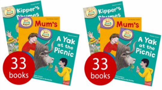 Biff, Chip and Kipper (Levels 1-3) 33 Books Collection £16.99 Delivered @ The Book People