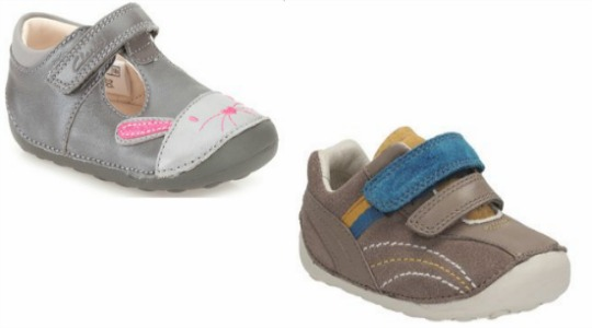Seasonal Reductions On Children's Footwear: Starting From £10 Delivered @ Clarks