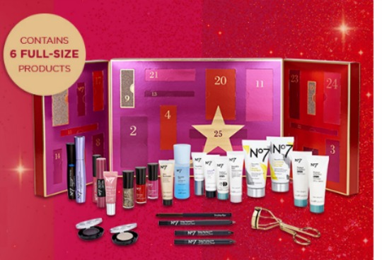 Join The Waiting List For The No7 25 Days Of Beauty Wonders Advent Calendar @ Boots.com
