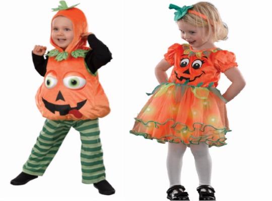 Light Up Pumpkin/Pumpkin Witch Costumes £8 @ Asda George