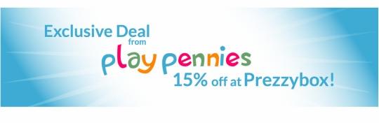 PLAYPENNIES EXCLUSIVE: 15% Off Using Code @ Prezzybox